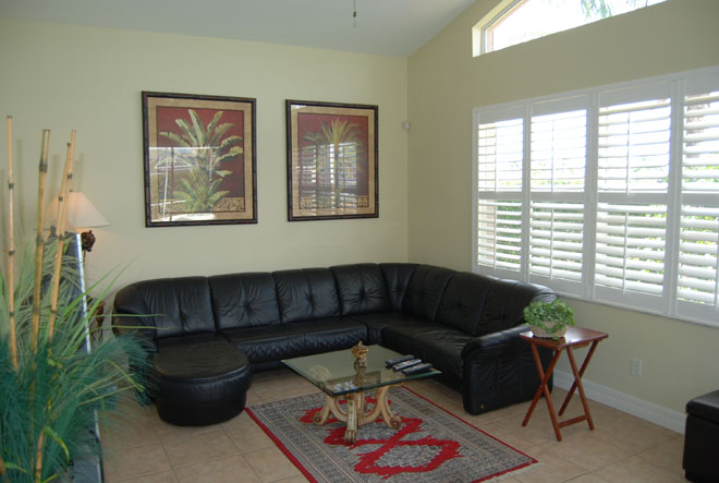 Vacation rental Tarpon View family room